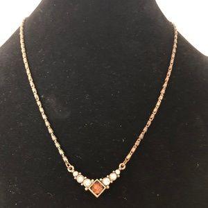 1928 Vintage Inspired Crystal Necklace